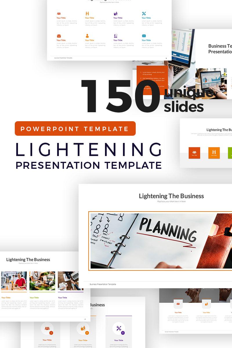 Lightening of Business Presentation PowerPoint Template - screenshot