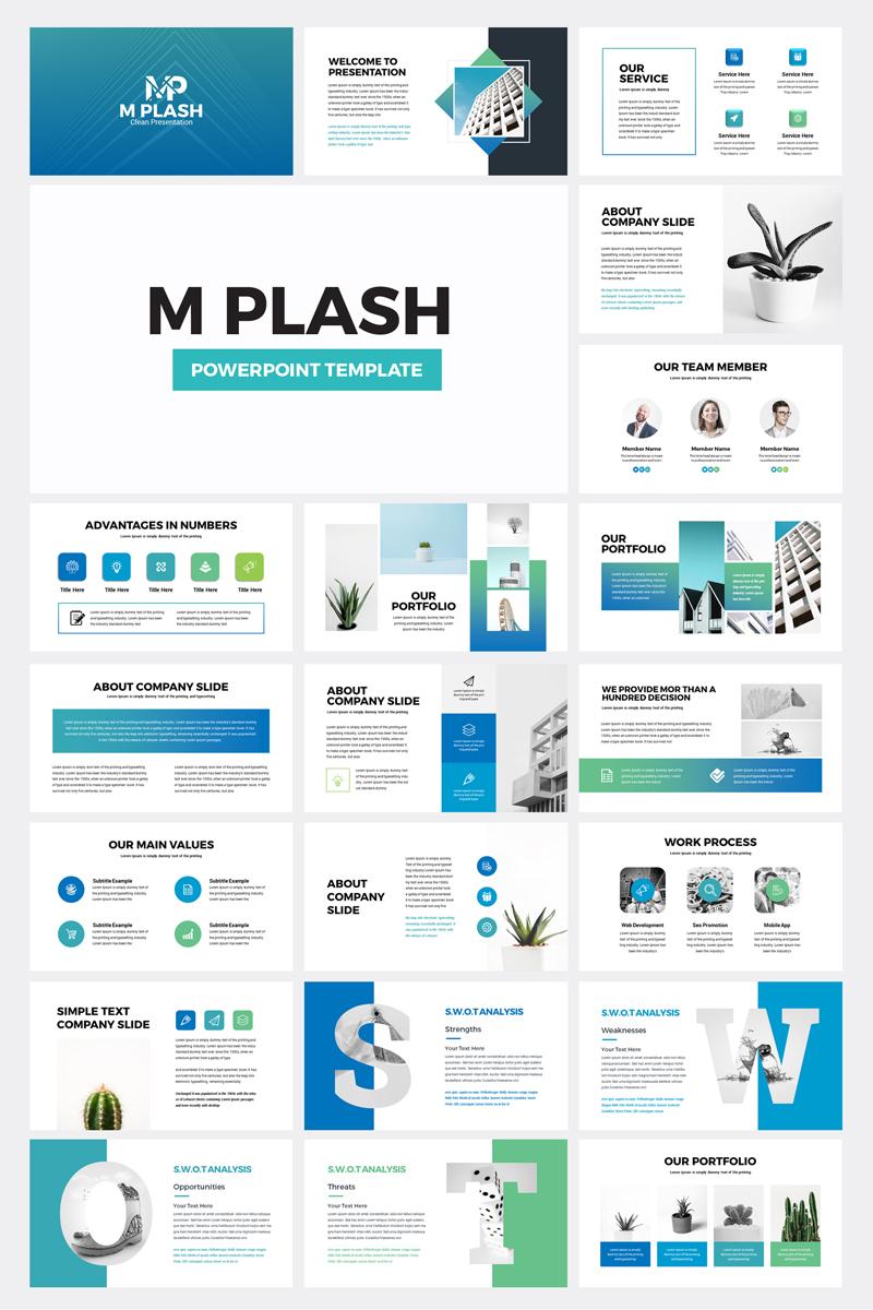 M Plash - Business PowerPoint Template - screenshot