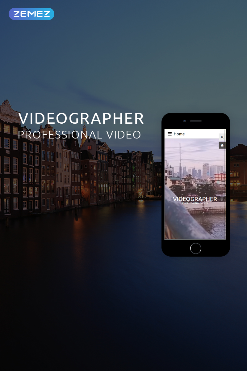 "Modello Joomla Responsive #78974 ""VIDEGRAPHER - Video Lab Multipage Creative"""