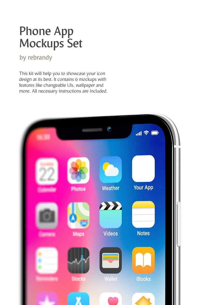 Phone App Set Product Mockup 78943