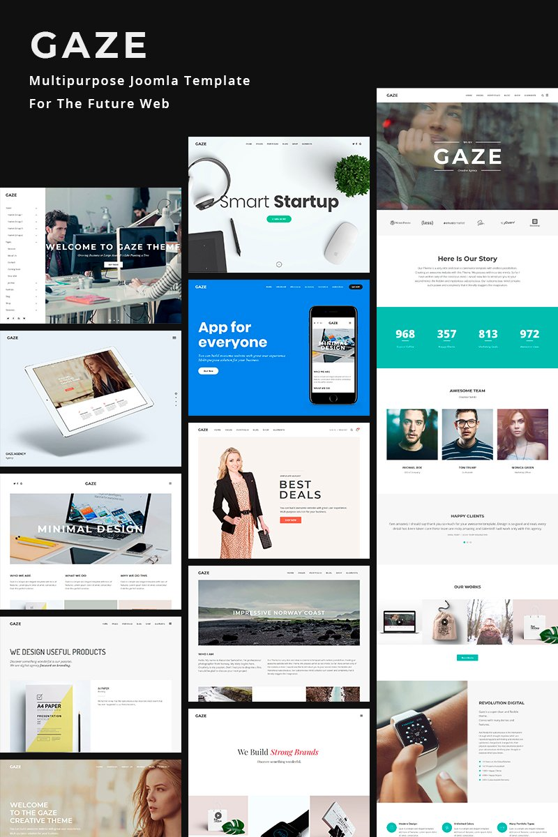 Responsive Gaze | Premium Multipurpose Business Website Joomla #78914