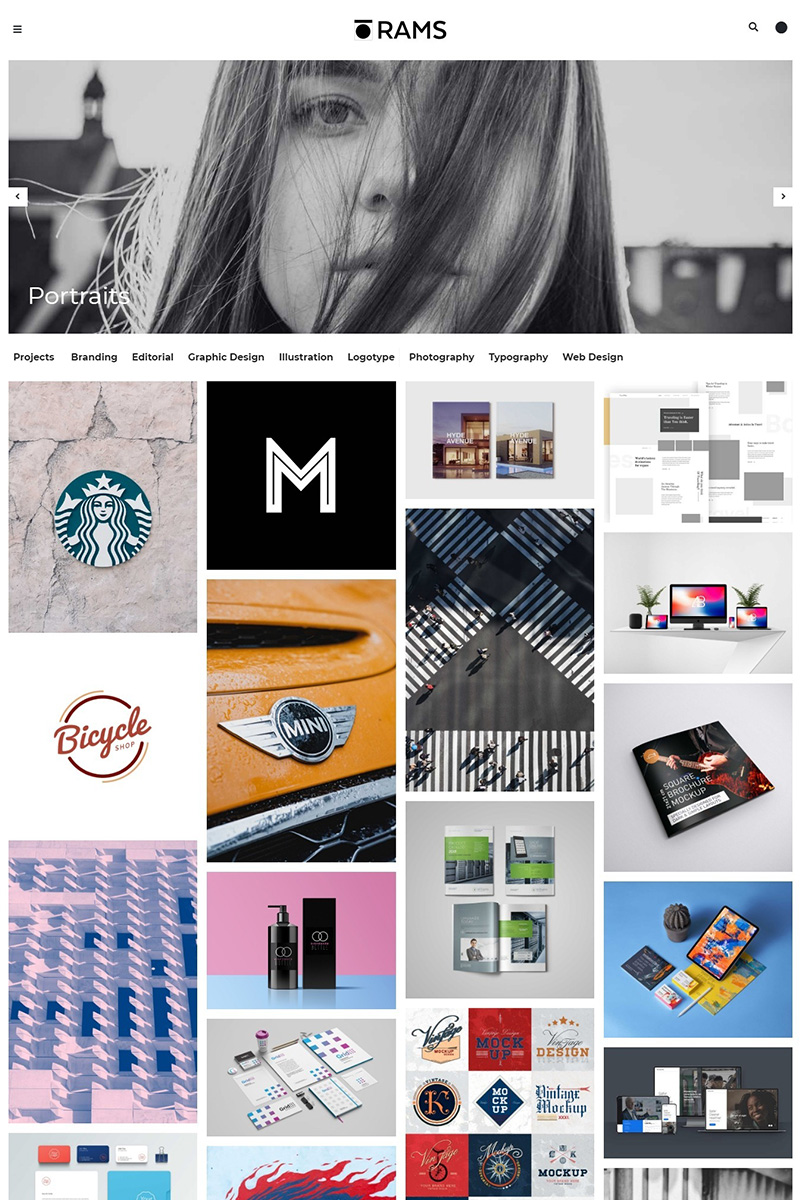 Responsivt RAMS - Portfolio and Art Gallery WordPress-tema #78999