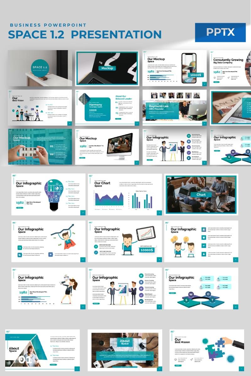 Space 1.2 PowerPoint Template - screenshot