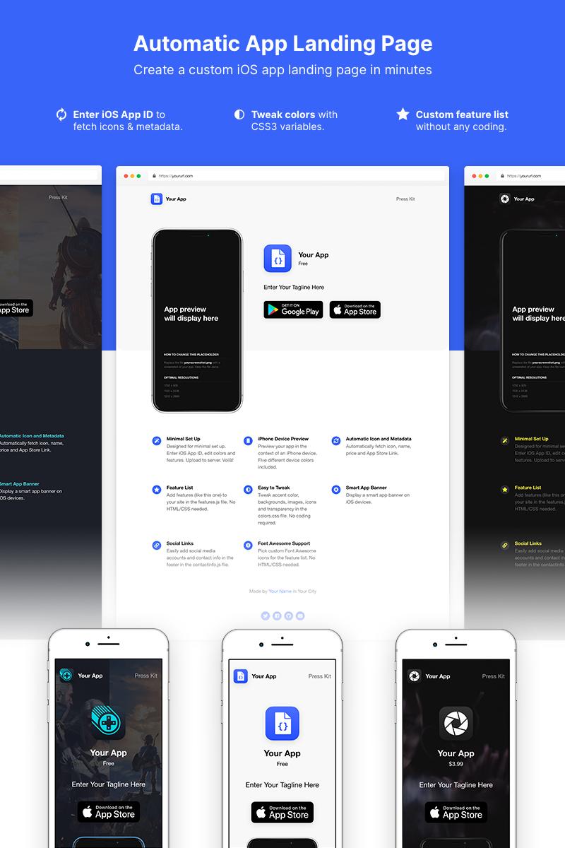 Szablon Landing Page Automatic App #78902