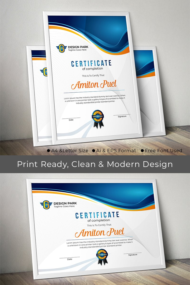 Best Certificate Template Design Vendors Design Sale