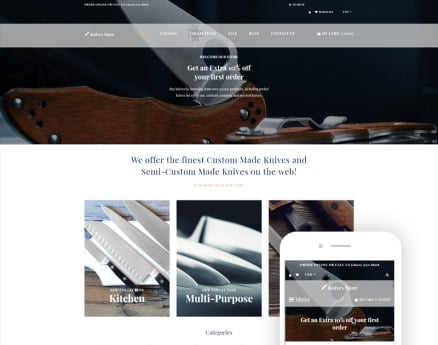 Knives store - Weapons Store Clean Shopify Theme