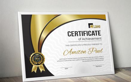 Rank Certificate Template