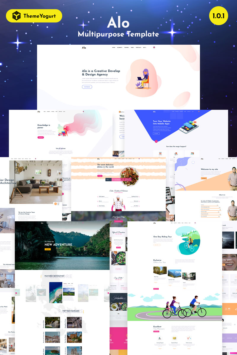 Alo - Truly Multipurpose Website Template