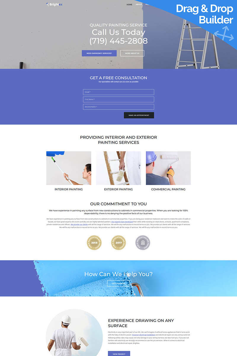 Brightex - Painting Services Moto CMS 3 Template
