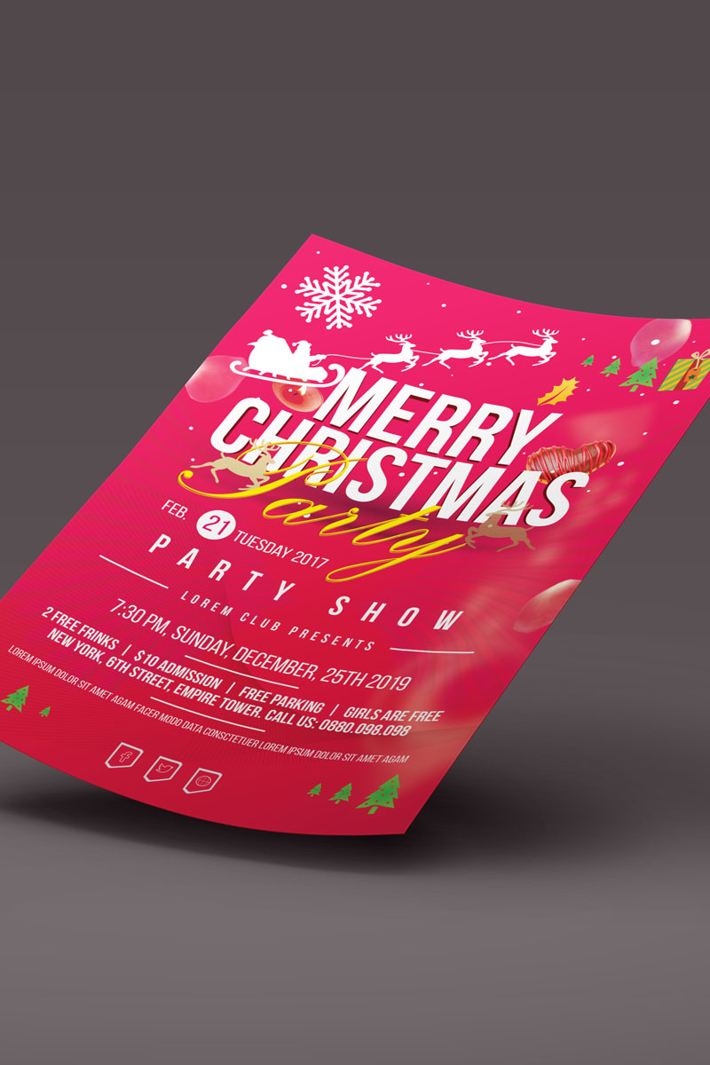 Christmas Party Flyer Corporate Identity Template - screenshot