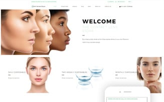 Contact Lenses Store - Optometrist's Clean Shopify Theme