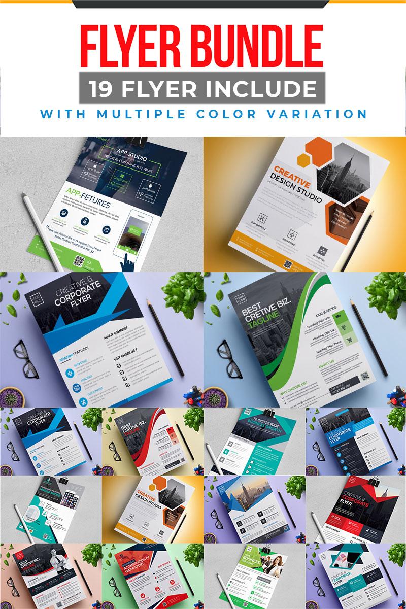 """""""19 Flyer Bundle"""" design d'Entreprise Premium #79090"""