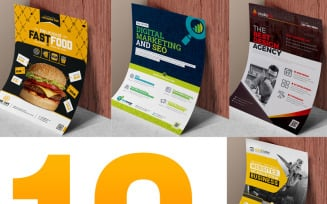 Flyer Template Bundle | 10 Flyer Design - Corporate Identity Template