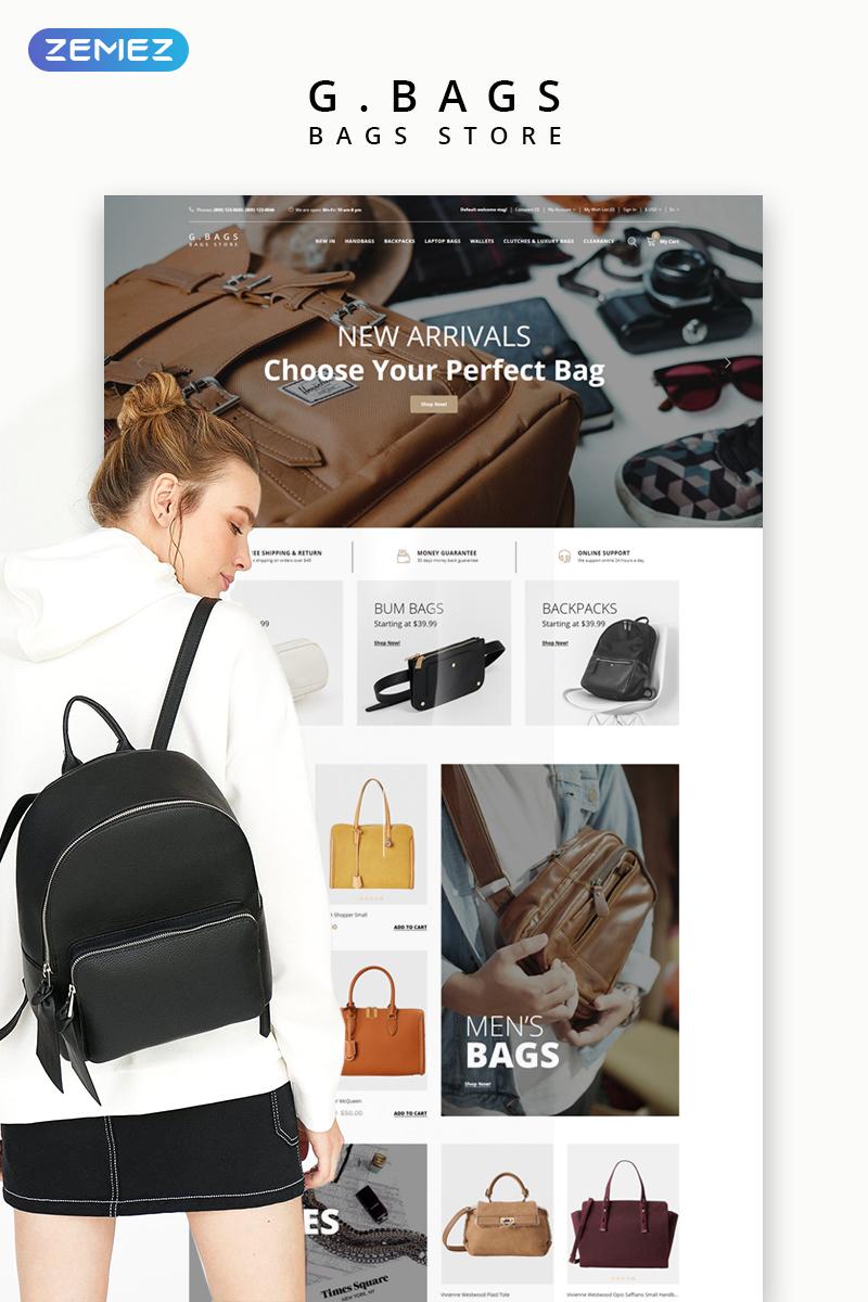 G. Bags - Handbag Clean OpenCart Template