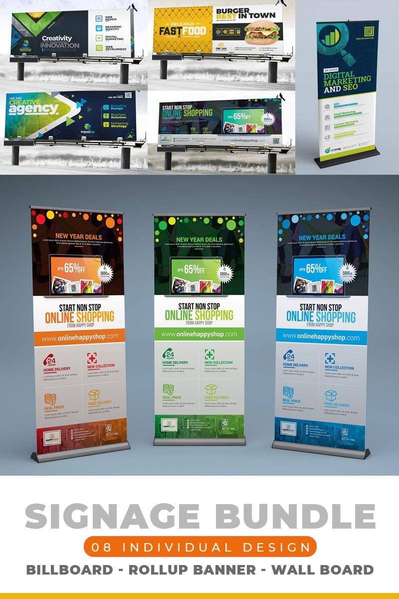 "Luxusní Bundle ""Signage Template Bundle | 30+ Individual Items"" #79000"