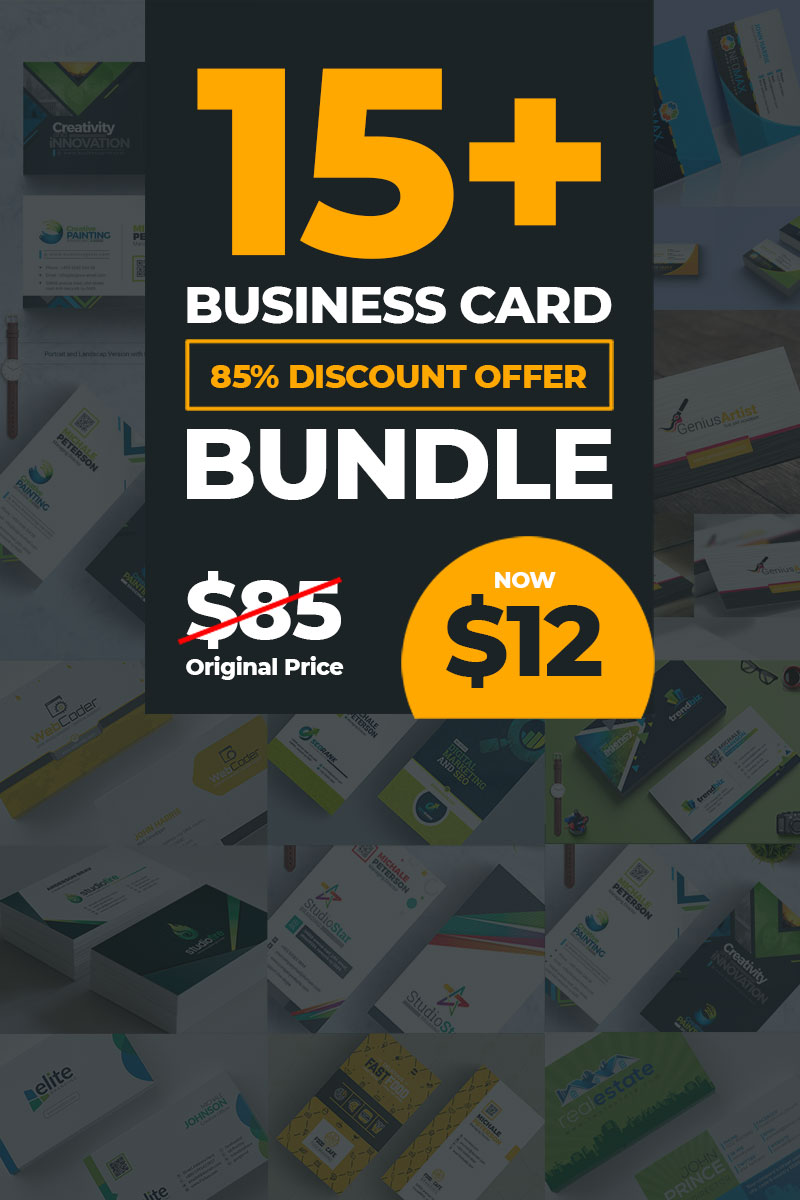 "Plantilla De Identidad Corporativa ""17 Business Card Bundle"" #79081"