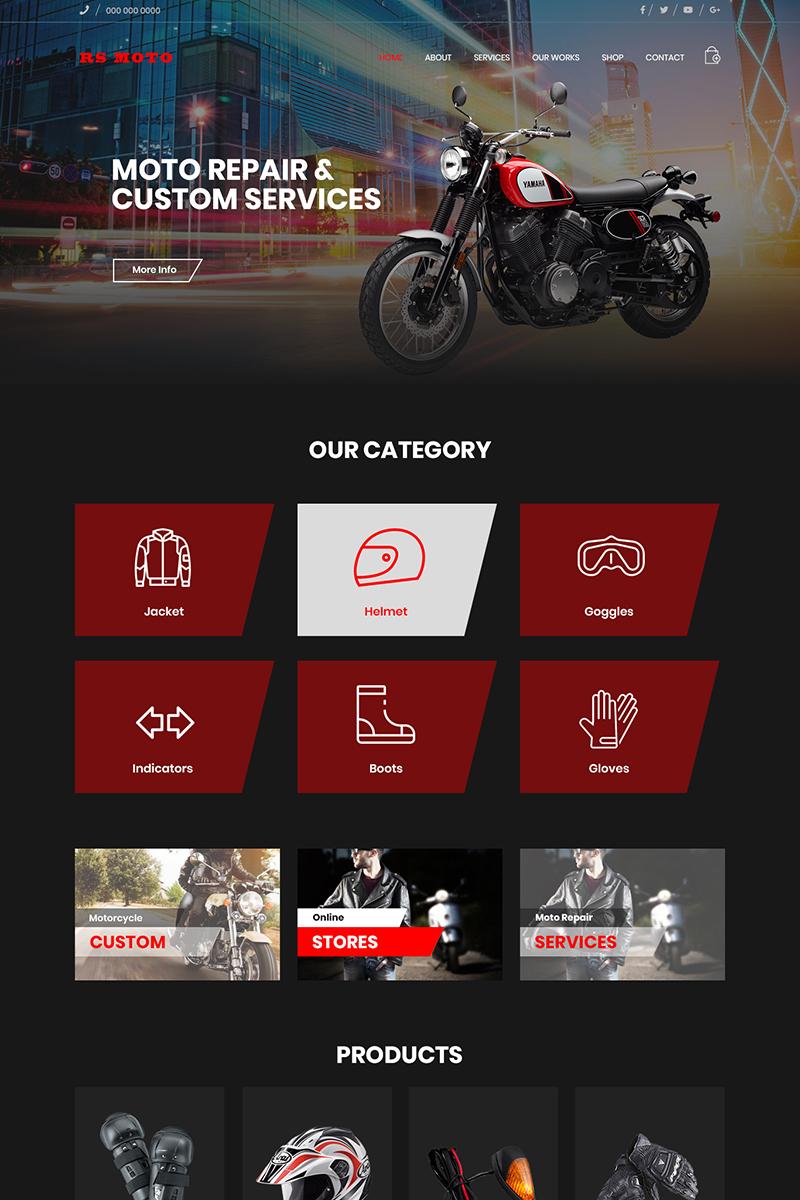 "PSD Vorlage namens ""RS Moto - Multipurpose Motorcycles Repair & Service"" #79012"
