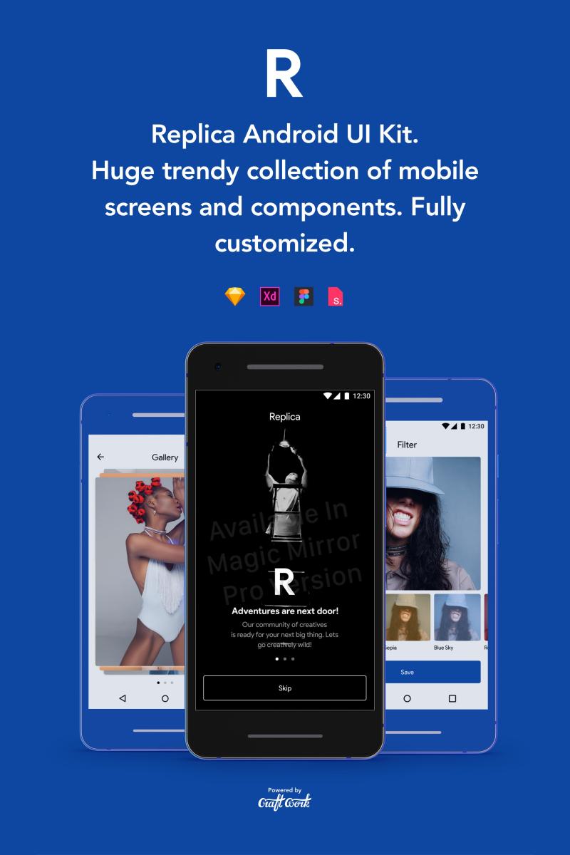 """""""Replica Android UI Kit"""" UI Elementen №79052"""