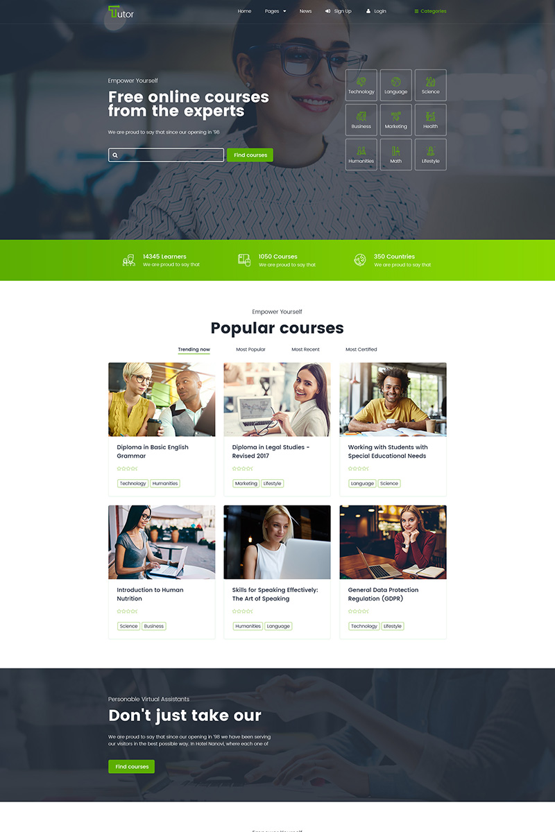 Responsivt Tutor - Online Education And Teaching WordPress-tema #79006