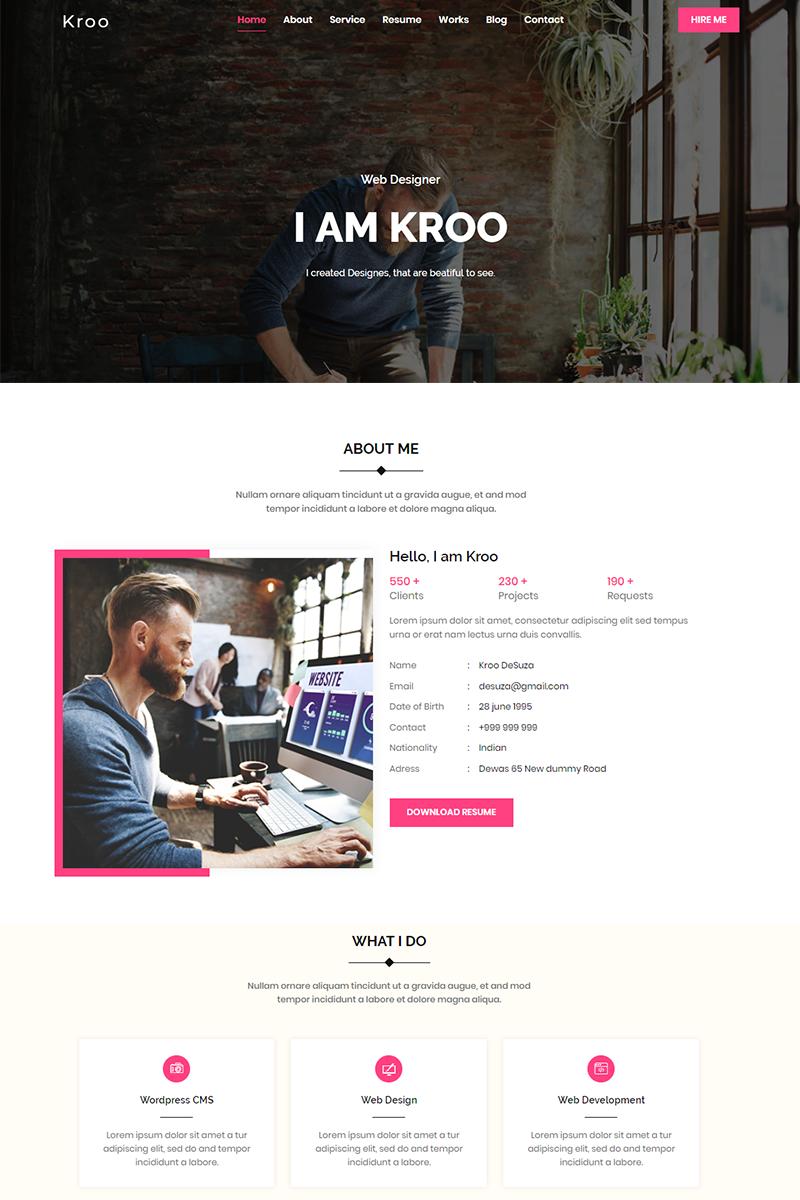 Responsywny szablon Landing Page Kroo #79093