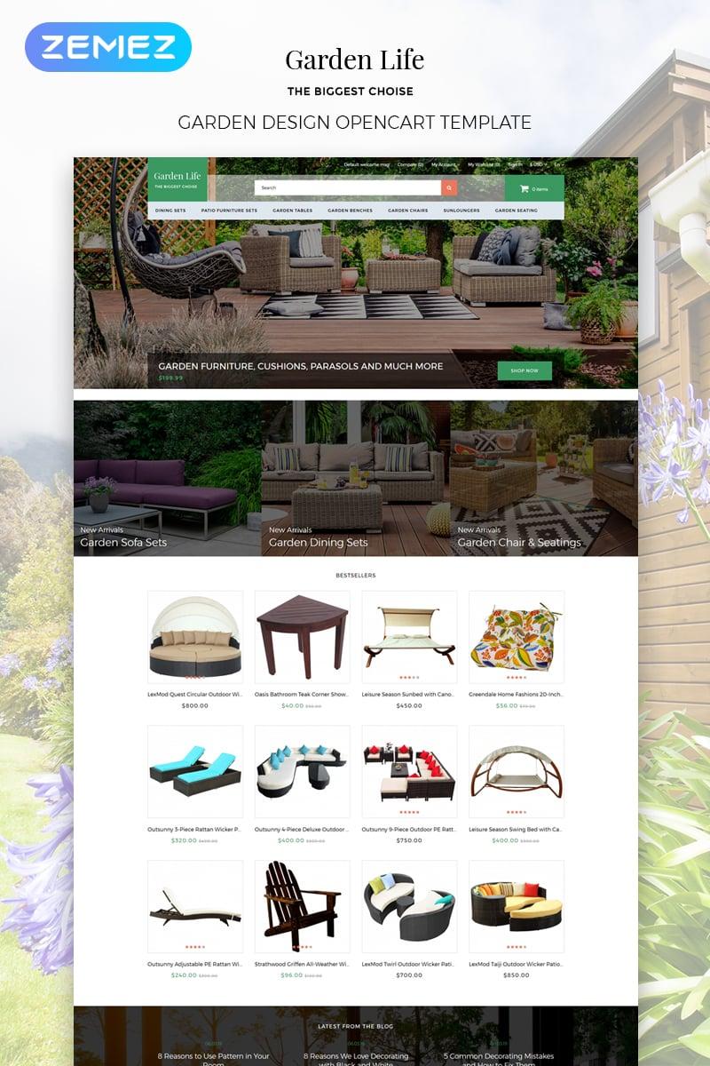 Responsywny szablon OpenCart Garden Life - Garden Design eCommerce Modern #79034