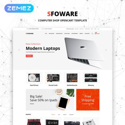 Flexível template OpenCart  №79079 para Sites de Loja de Eletrônicos