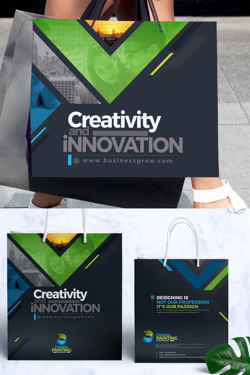 Shopping Bag Corporate Identity Template