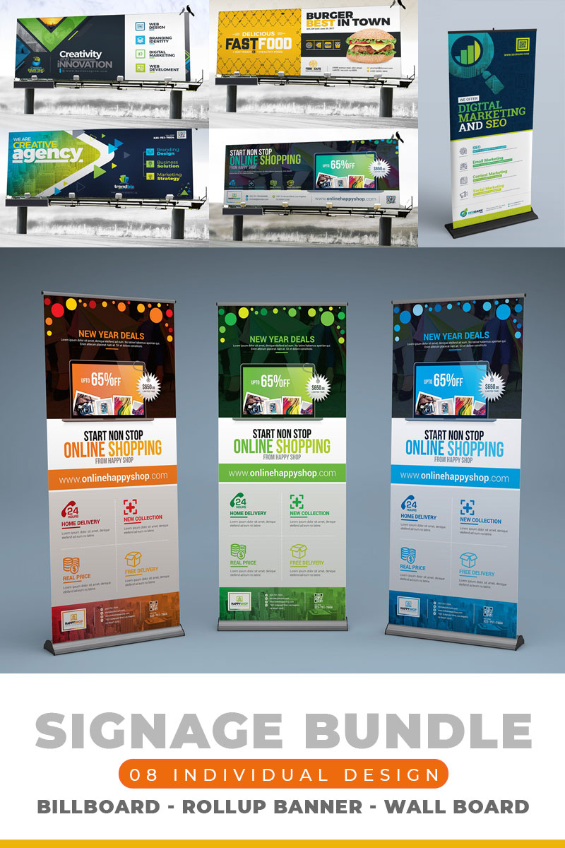 Signage Template Bundle | 30+ Individual Items Pacote №79000