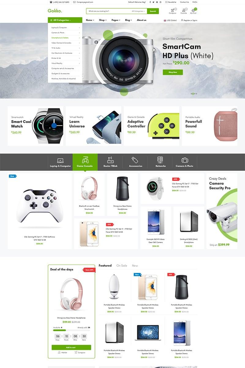 "Tema WooCommerce ""Gokko - Multi-purposes"" #79040 - captura de pantalla"