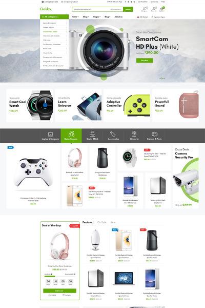 Responsive Tema WooCommerce #79040 para Sitio de  para Sitio de Electrónica