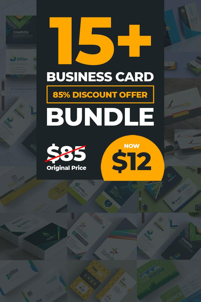 """Unternehmensidentität Vorlage namens """"17 Business Card Bundle"""" #79081"""