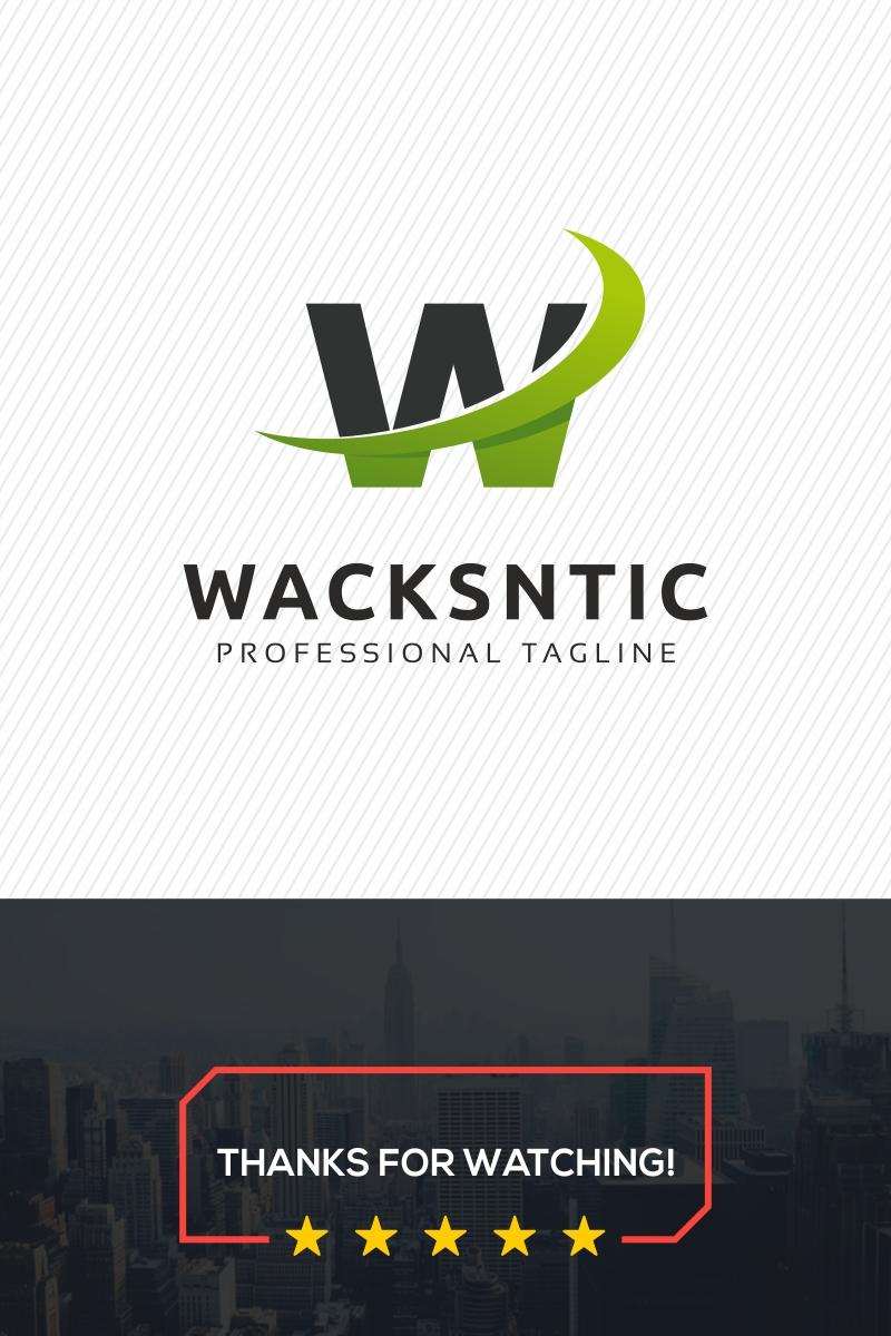 W Letter - Wacksntic Logo Template