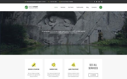 GREENPOINT - Landscape Design Creative HTML Bootstrap Landing Page Template