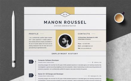 Manon Resume Template