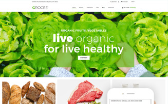 GROCEE - Food Store Multipage Clean Shopify Theme