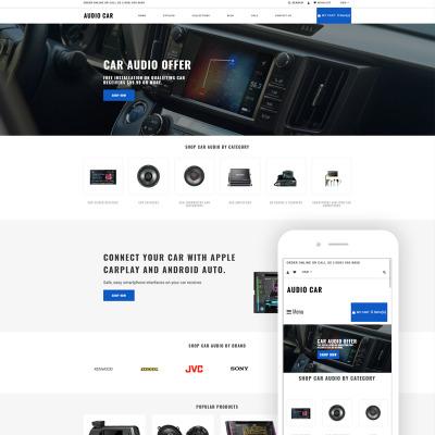 Audio Car - Car Audio Multipage Modern Shopify Theme Shopify Theme #79157