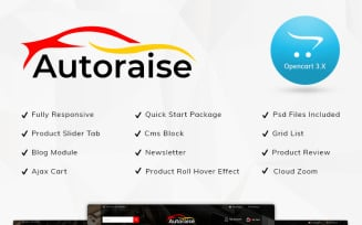 Autoraise Auto Store OpenCart Template