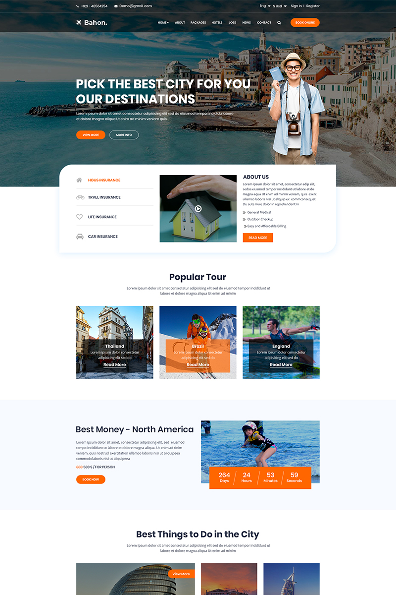Bahon - Travel Agency PSD Template