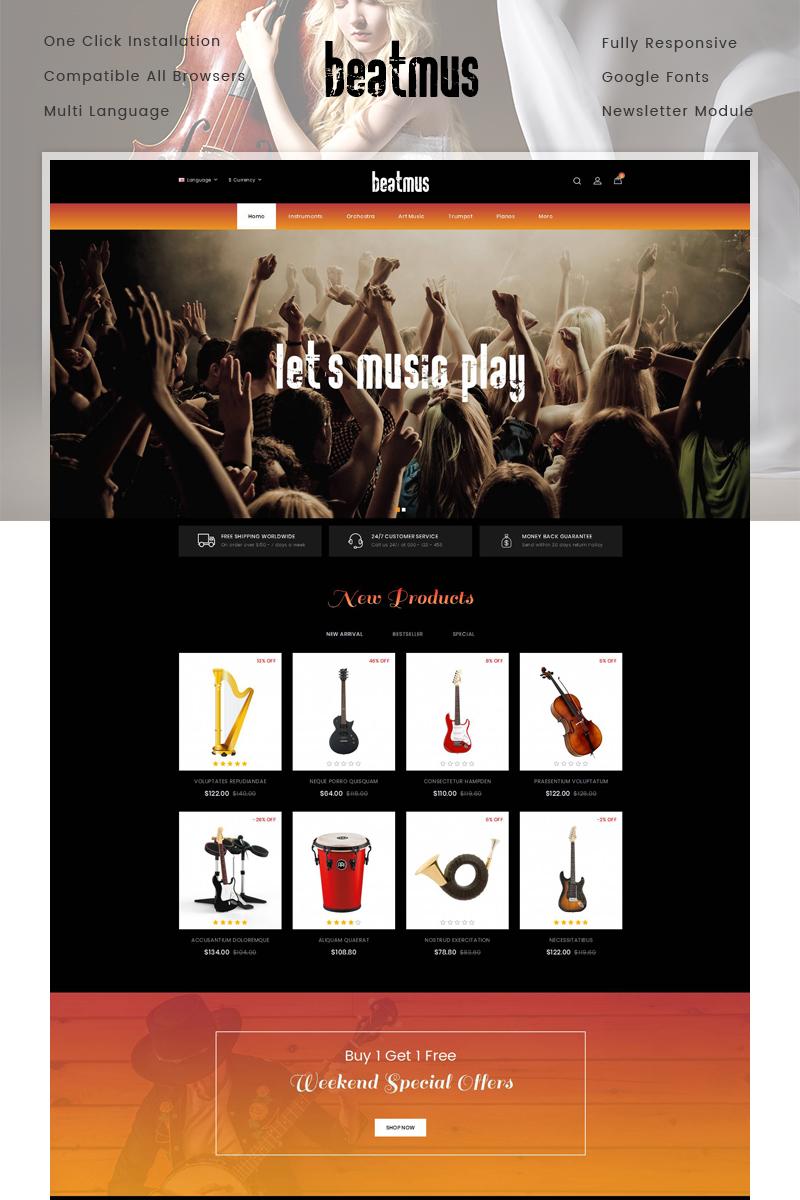 Beatmus - Musical Instrument Store OpenCart Template