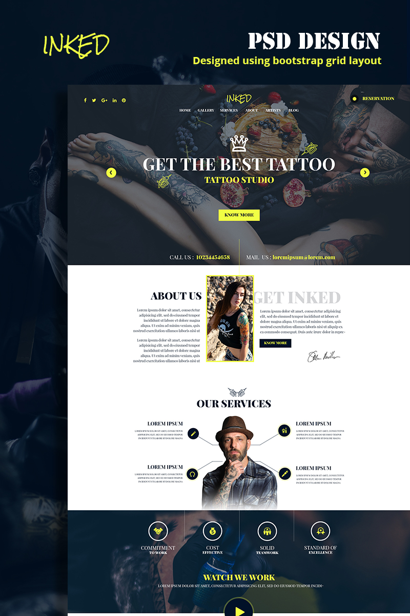 Bootstrap Inked PSD-mall #79140