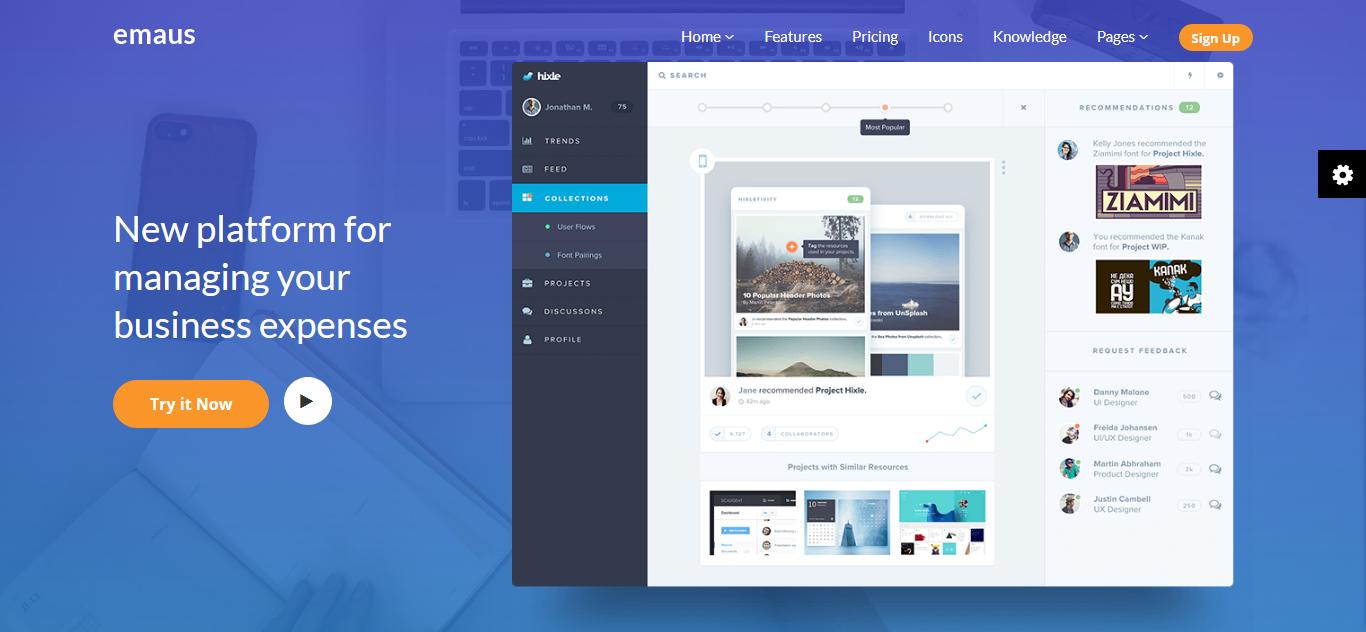 Emaus | SaaS, WebApp, Ebook Joomla Template - screenshot