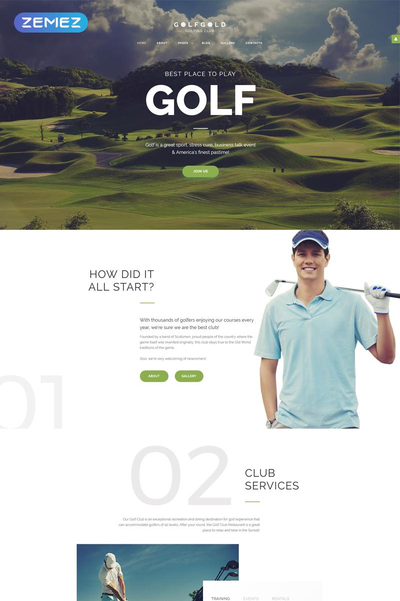 GolfGold - Golf Creative Joomla Template