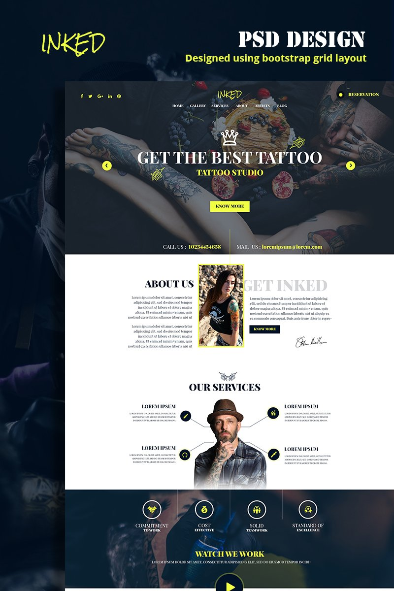 Inked Template Photoshop №79140