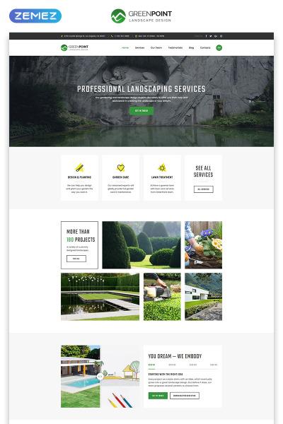 Responsives Landing Page Template für Landschaftsgestaltung