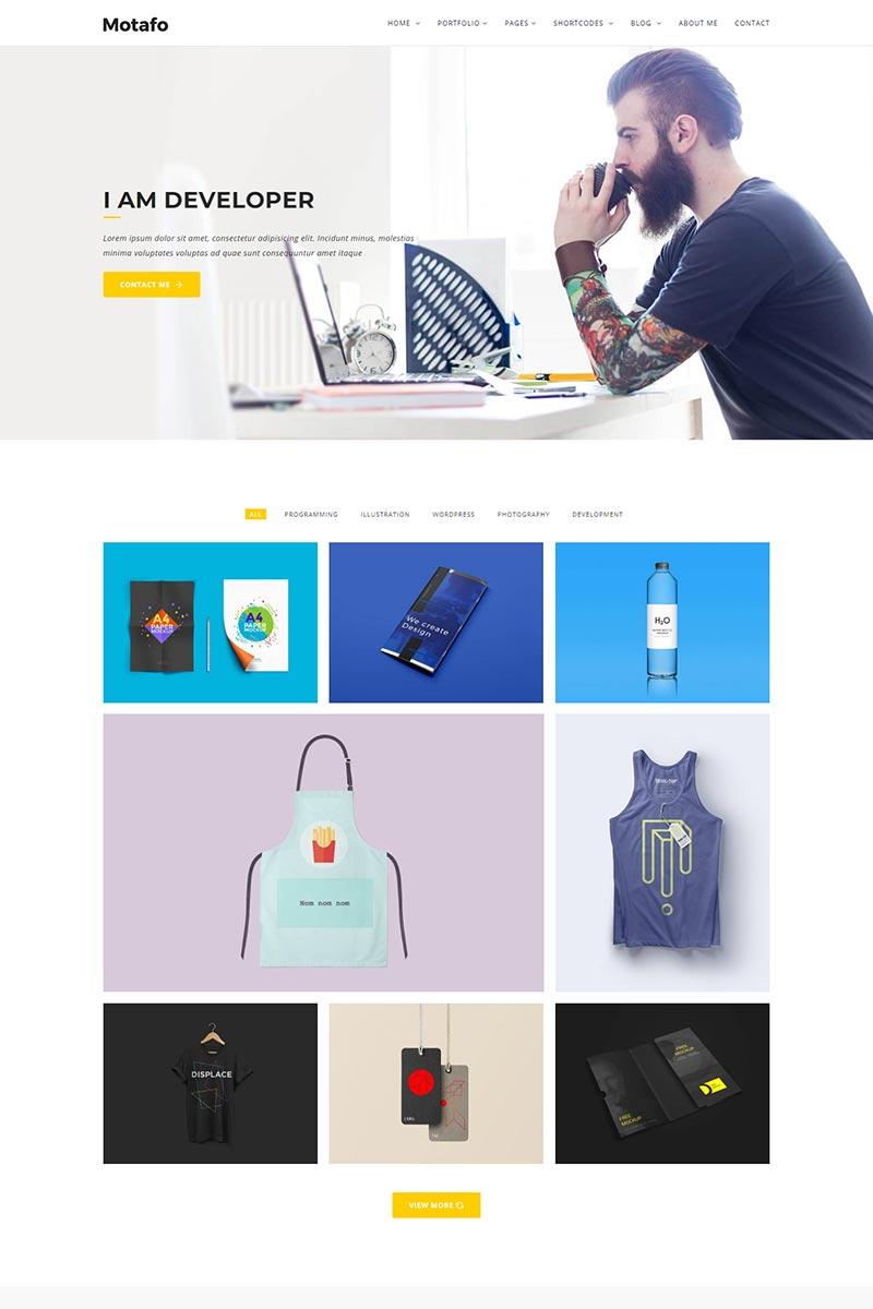 """Motafo Minimal Portfolio"" Responsive Website template №79160"