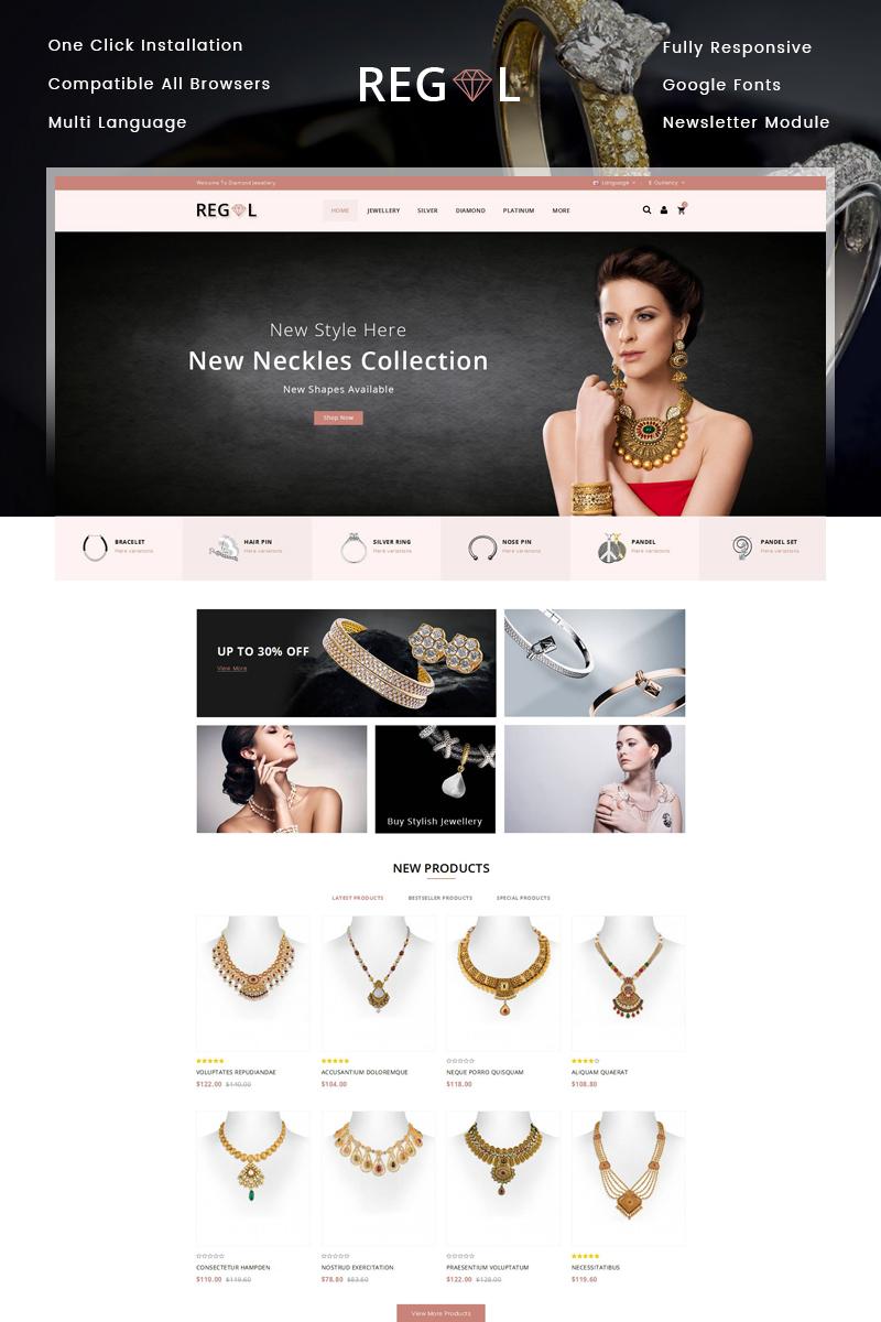 """""""Regal Jewel Store"""" - адаптивний OpenCart шаблон №79104"""