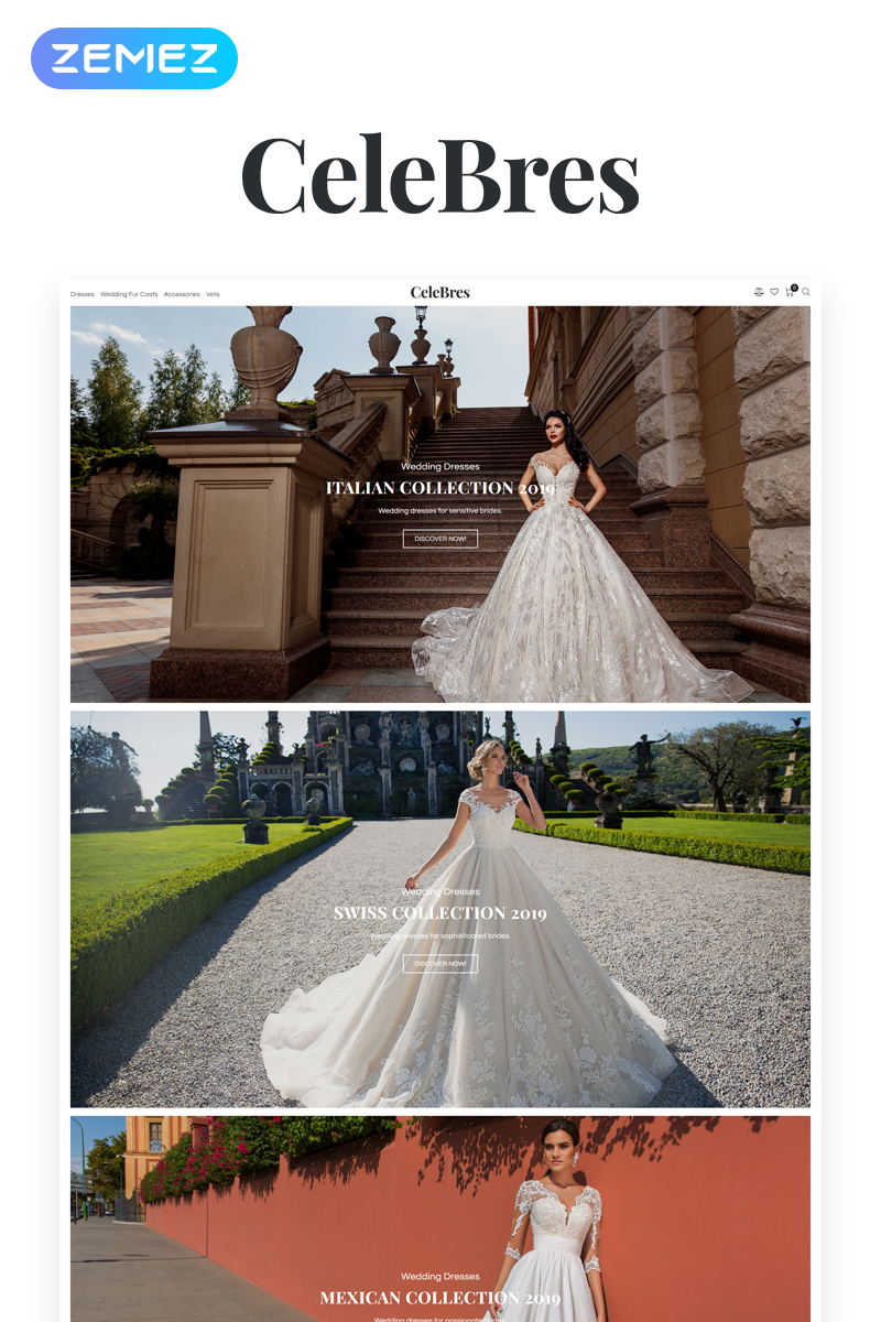 Responsive CeleBres - Wedding Salon ECommerce Modern Elementor Woocommerce #79129 - Ekran resmi