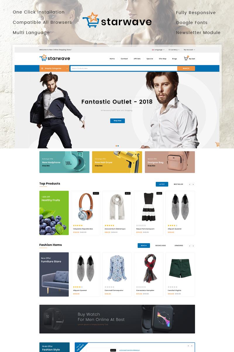 Responsive Starwave - Multipurpose Store Opencart #79159