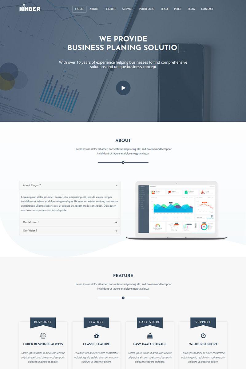 Responsywny szablon Landing Page Kinger - Personal / Business Portfolio #79172