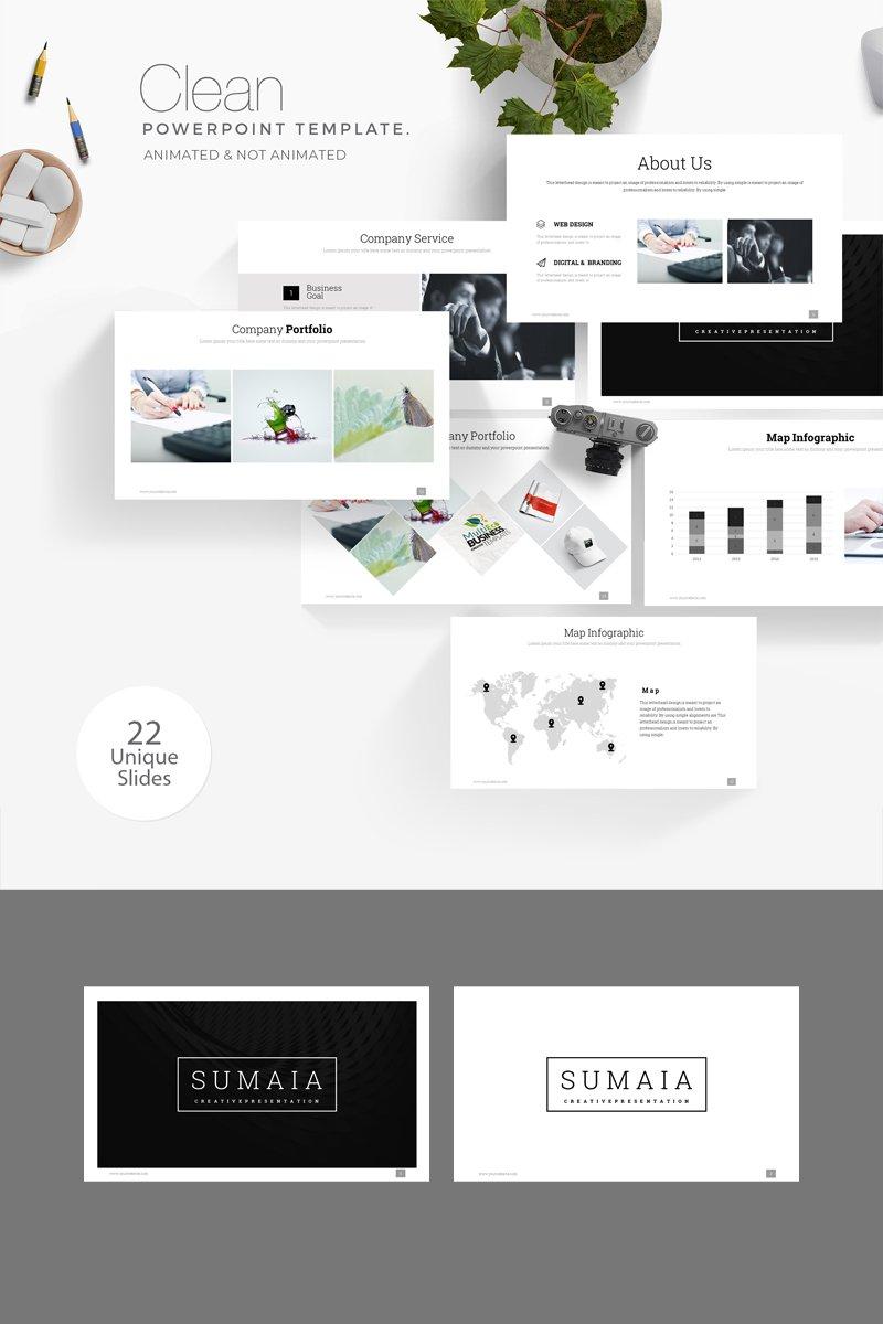 Sumaia Minimal Presentation PowerPoint Template - screenshot